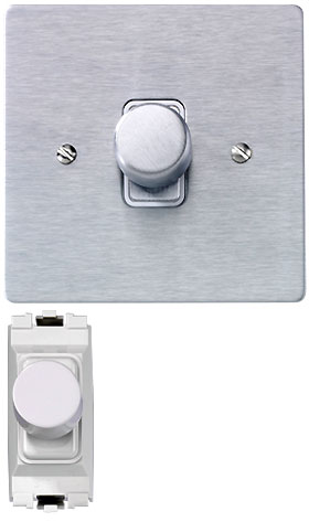 rotary push switch wall dimmer rps multiload. Black Bedroom Furniture Sets. Home Design Ideas